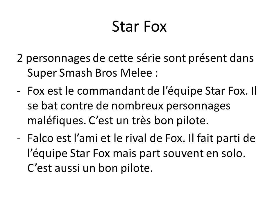 Star Fox 2 personnages de cette série sont présent dans Super Smash Bros Melee :