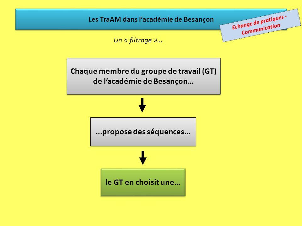 Chaque membre du groupe de travail (GT) de l'académie de Besançon…