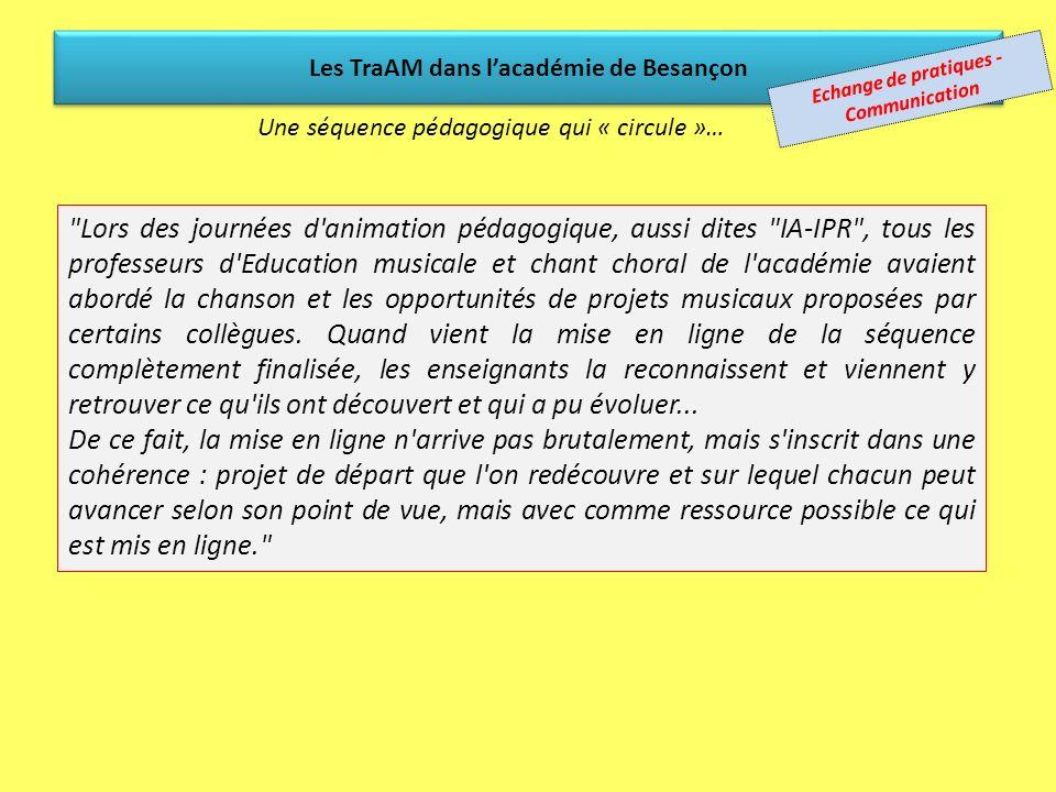 Les TraAM dans l'académie de Besançon