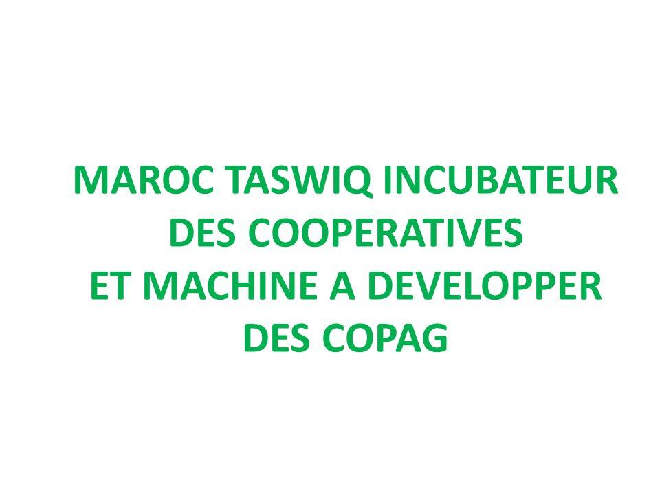MAROC TASWIQ INCUBATEUR DES COOPERATIVES