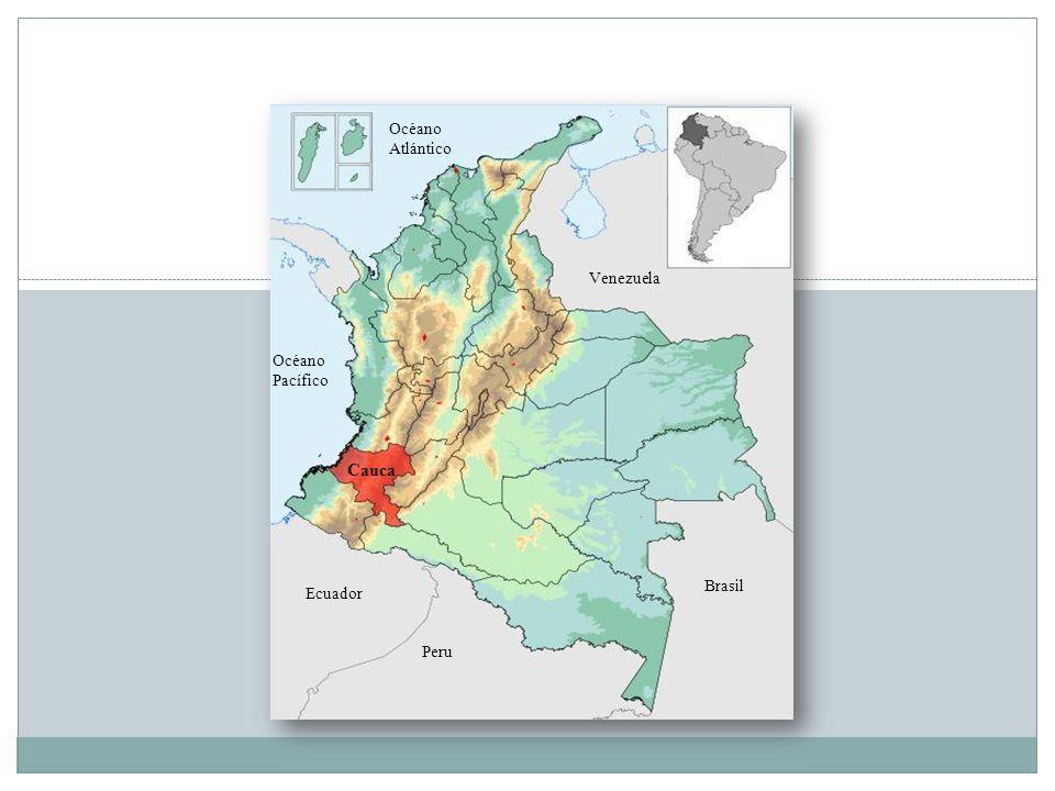 Océano Atlántico Venezuela Océano Pacífico Cauca Brasil Ecuador Peru