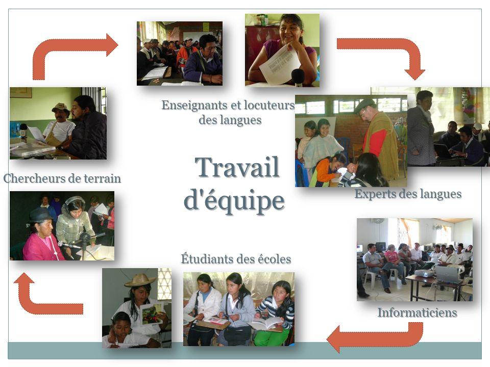 Travail d équipe Enseignants et locuteurs des langues