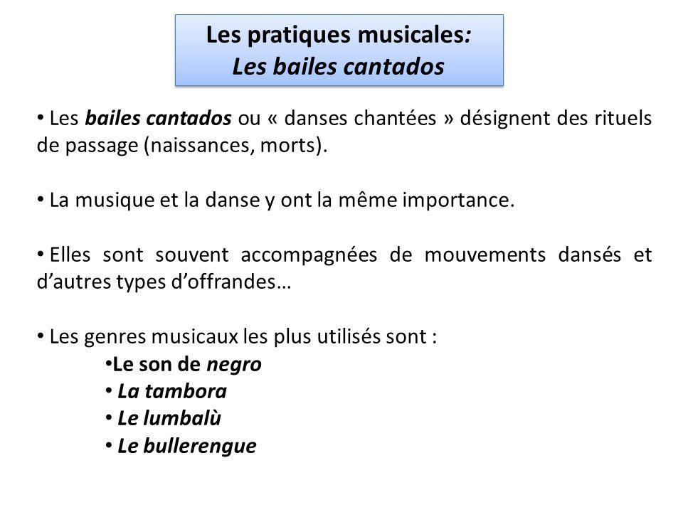 Les pratiques musicales: