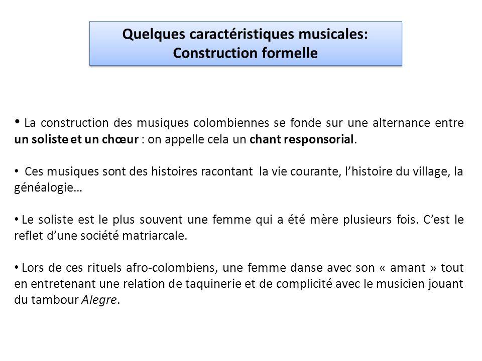 Quelques caractéristiques musicales: Construction formelle
