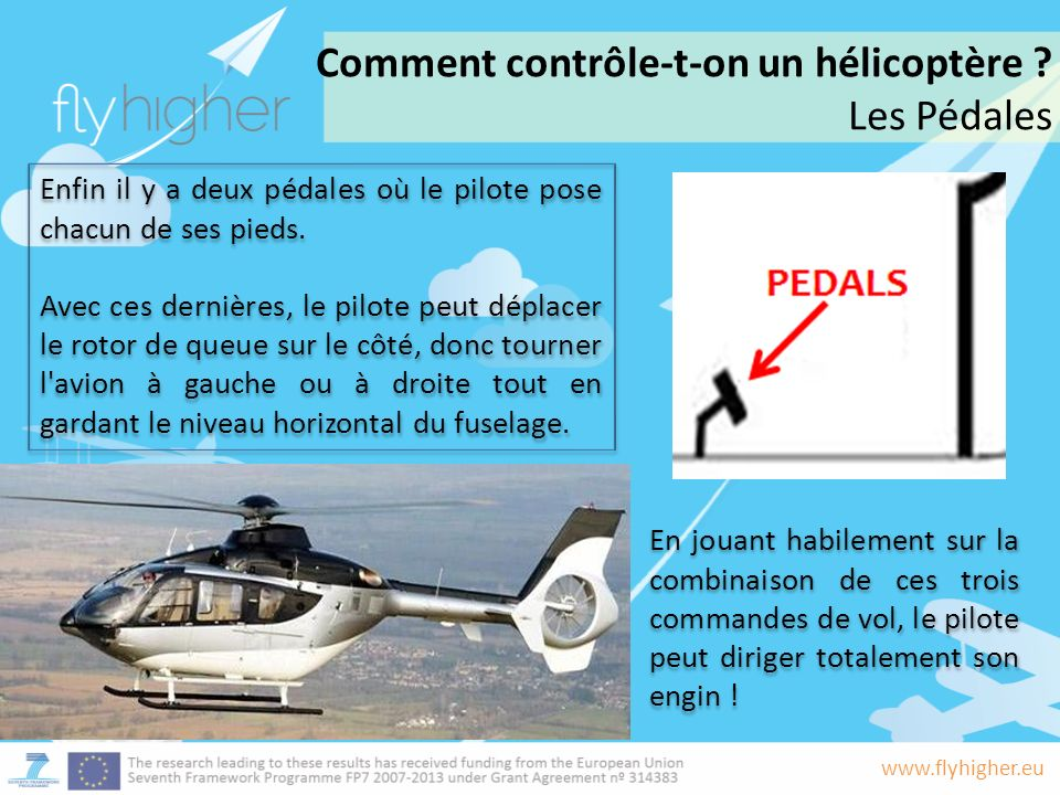 Comment contrôle-t-on un hélicoptère Les Pédales