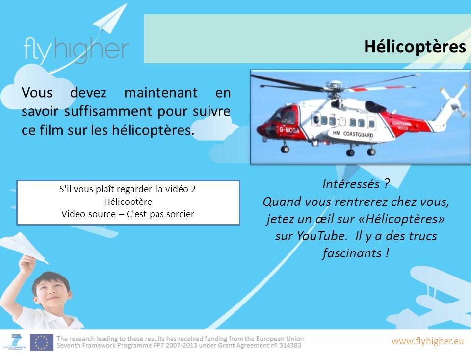 Hélicoptères Vous devez maintenant en savoir suffisamment pour suivre ce film sur les hélicoptères.