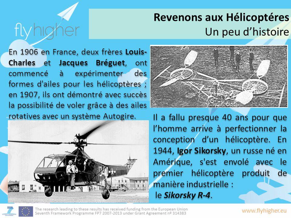 Revenons aux Hélicoptéres Un peu d'histoire