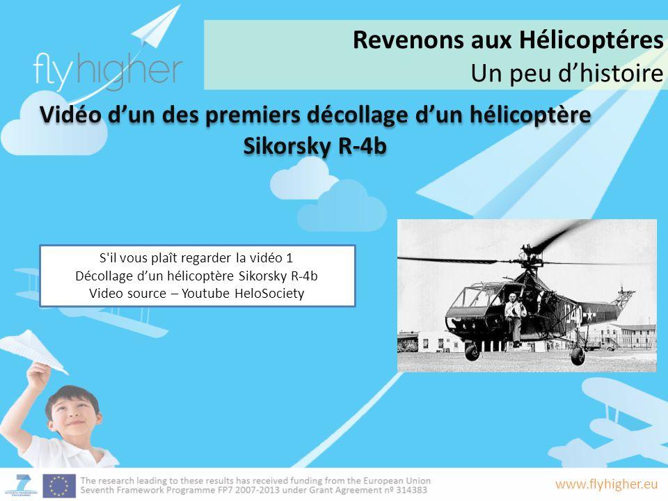 Vidéo d'un des premiers décollage d'un hélicoptère Sikorsky R-4b