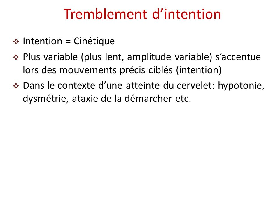 Tremblement d'intention