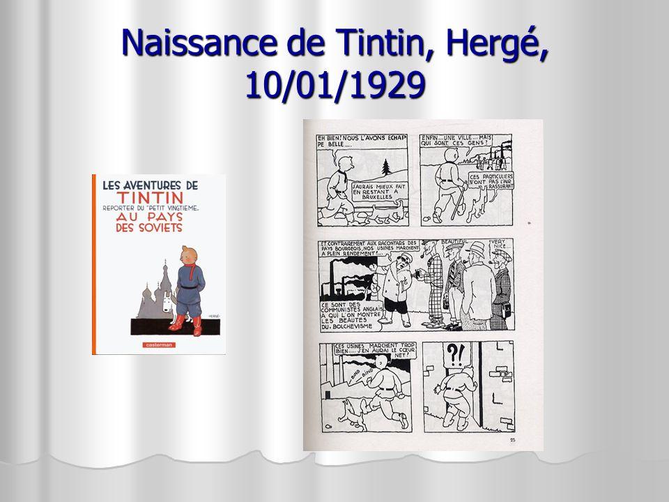 Naissance de Tintin, Hergé, 10/01/1929