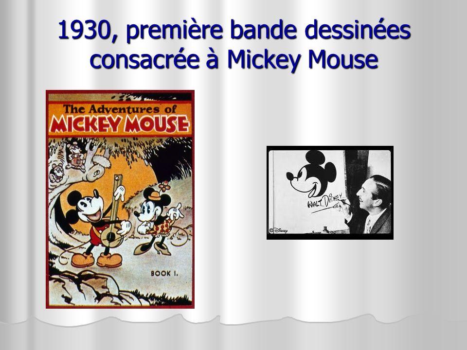 1930, première bande dessinées consacrée à Mickey Mouse