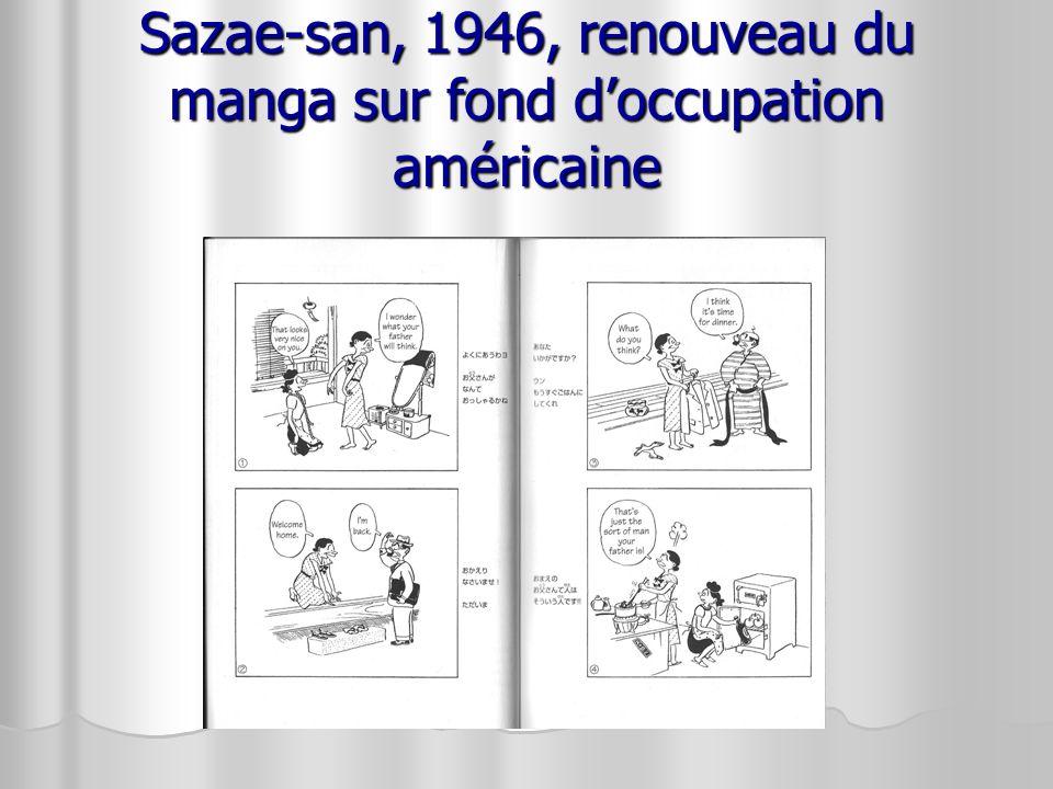 Sazae-san, 1946, renouveau du manga sur fond d'occupation américaine