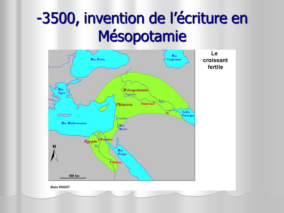 -3500, invention de l'écriture en Mésopotamie