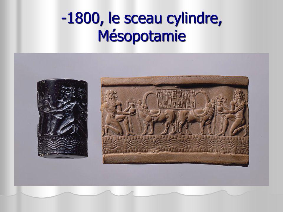 -1800, le sceau cylindre, Mésopotamie