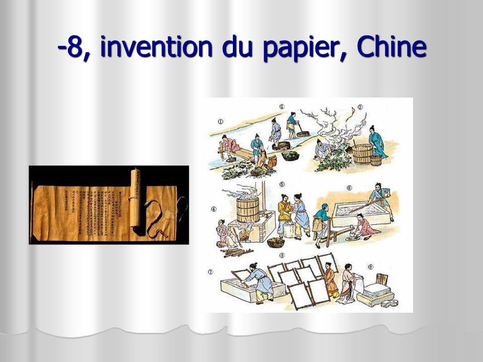 -8, invention du papier, Chine