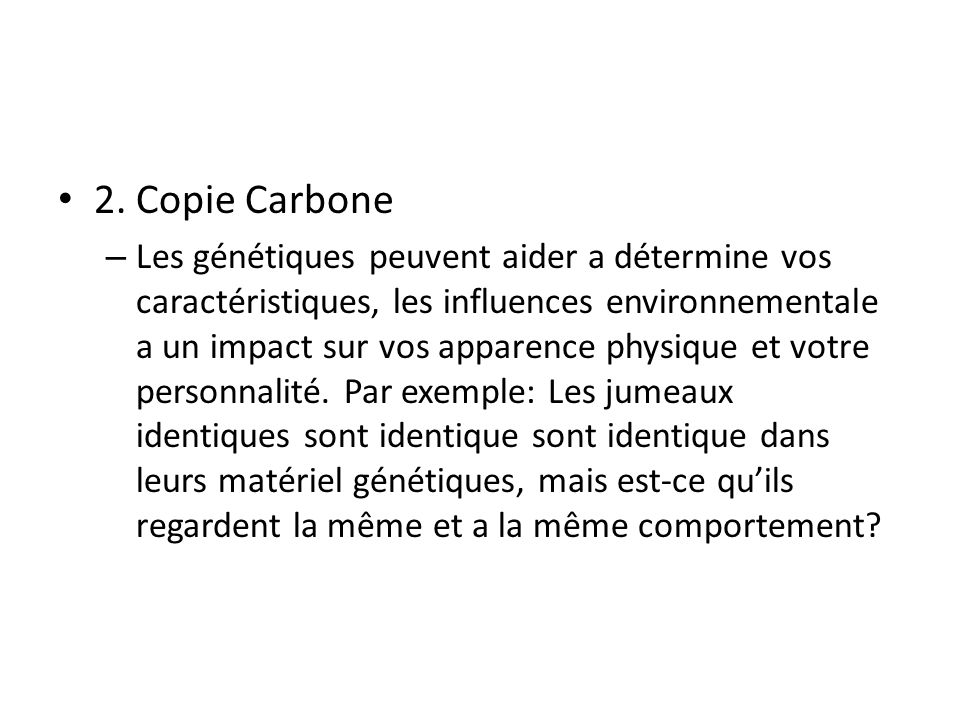 2. Copie Carbone