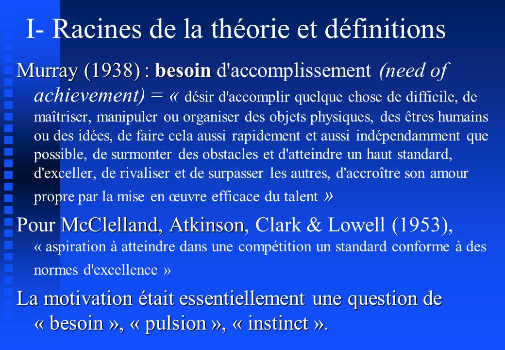 I- Racines de la théorie et définitions