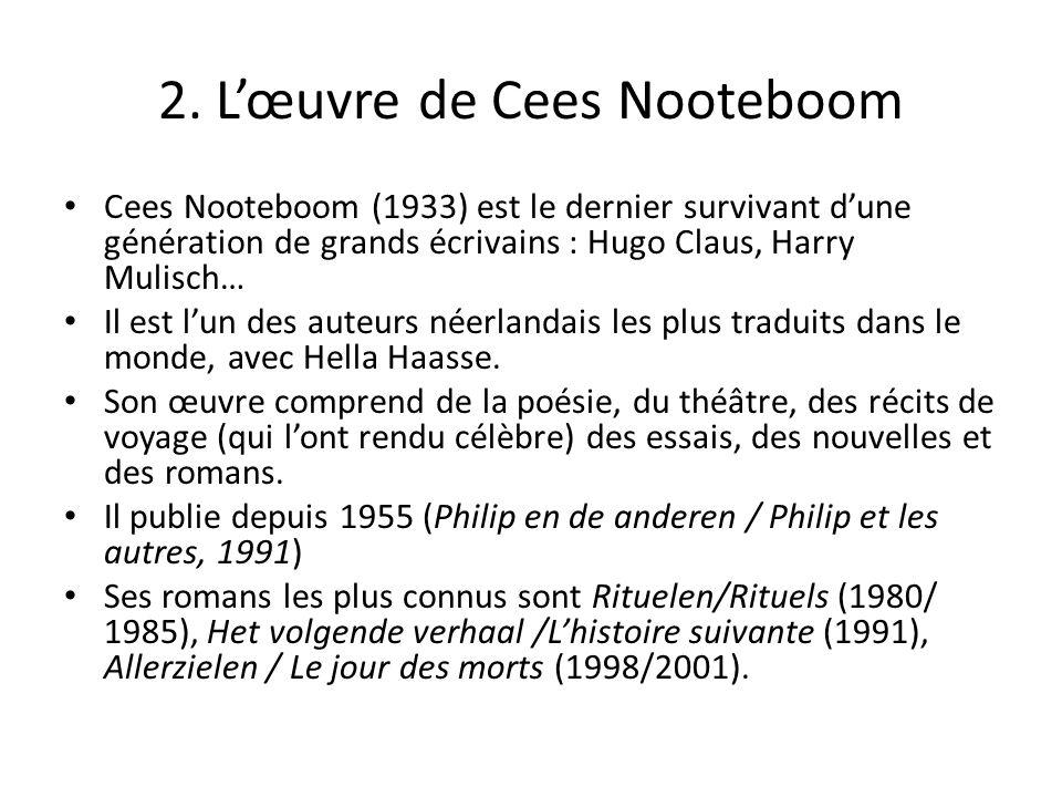 2. L'œuvre de Cees Nooteboom