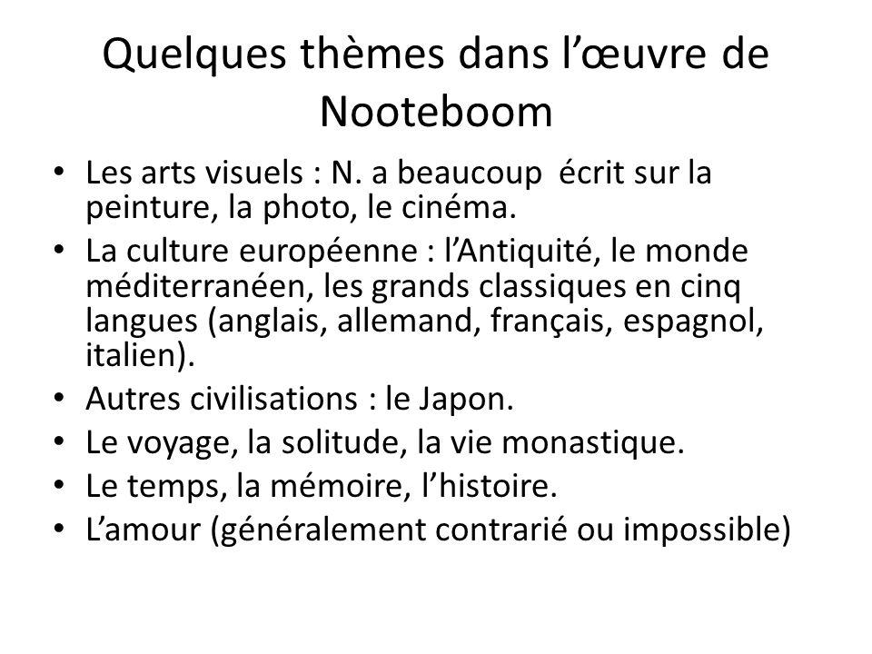 Quelques thèmes dans l'œuvre de Nooteboom
