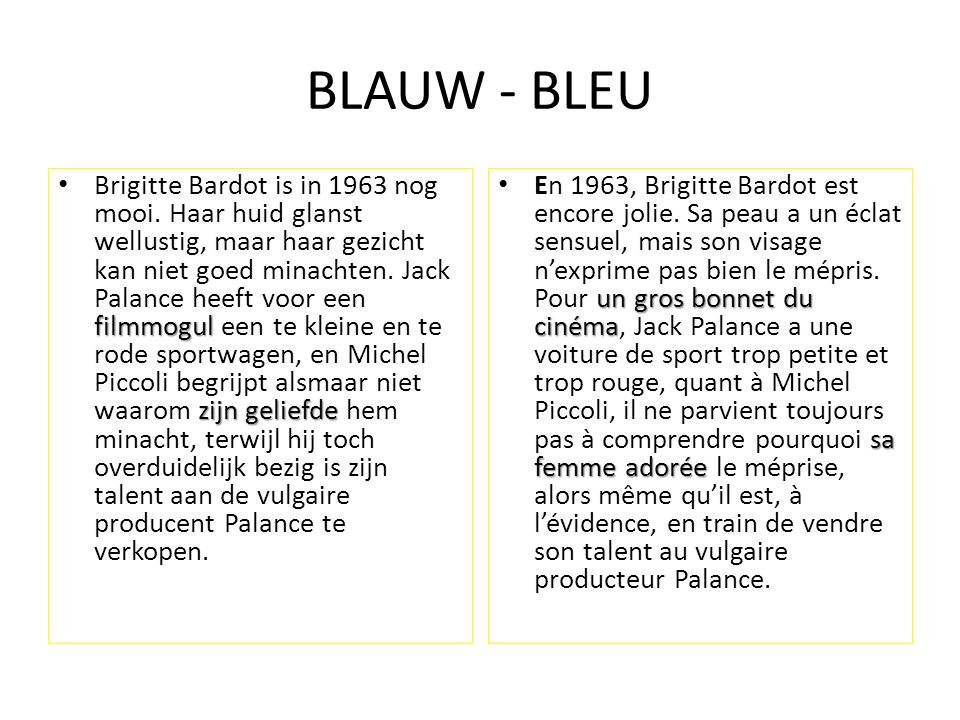 BLAUW - BLEU