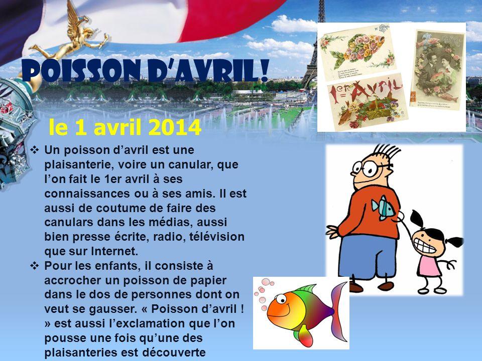POISSON D'AVRIL! le 1 avril 2014
