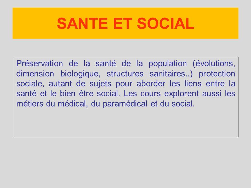 SANTE ET SOCIAL