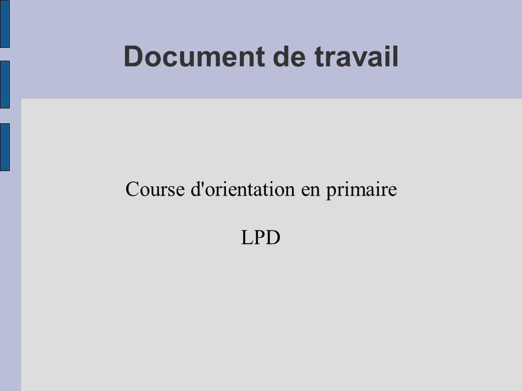 Course d orientation en primaire LPD