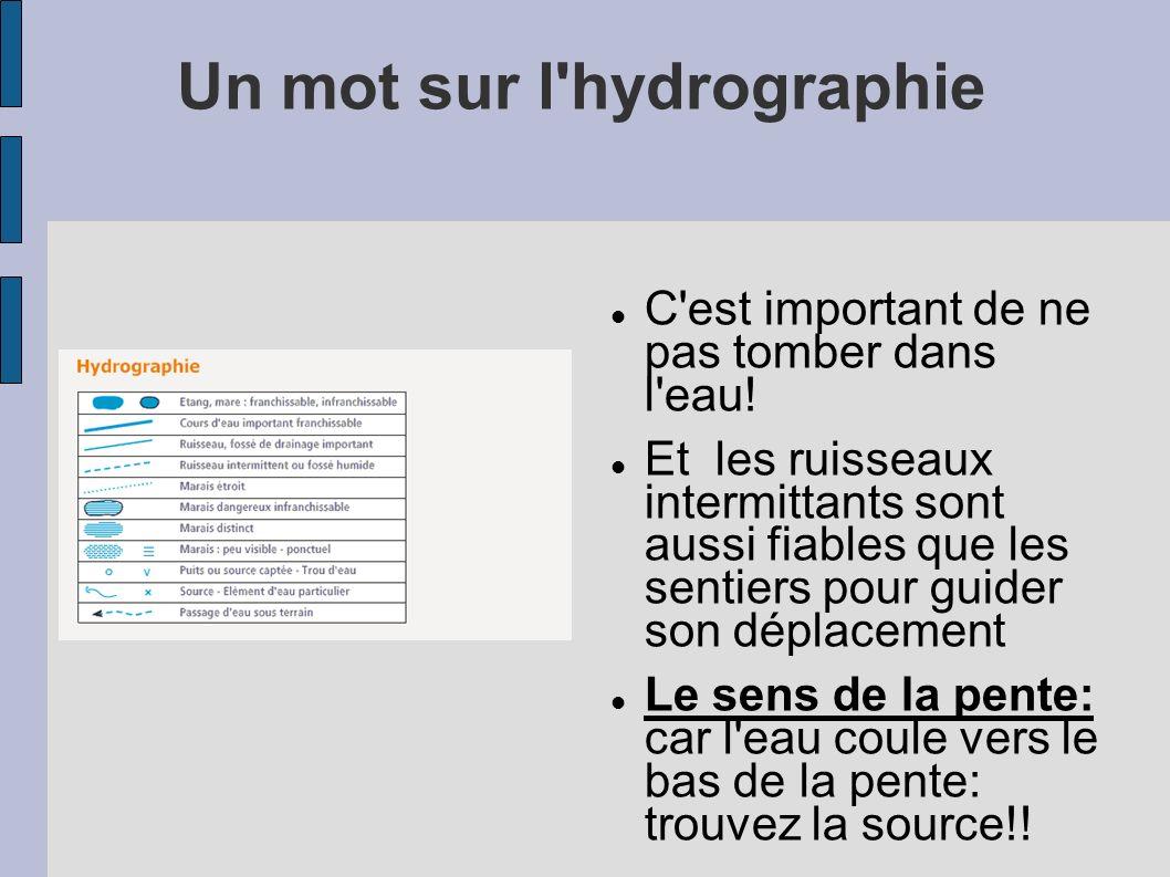 Un mot sur l hydrographie