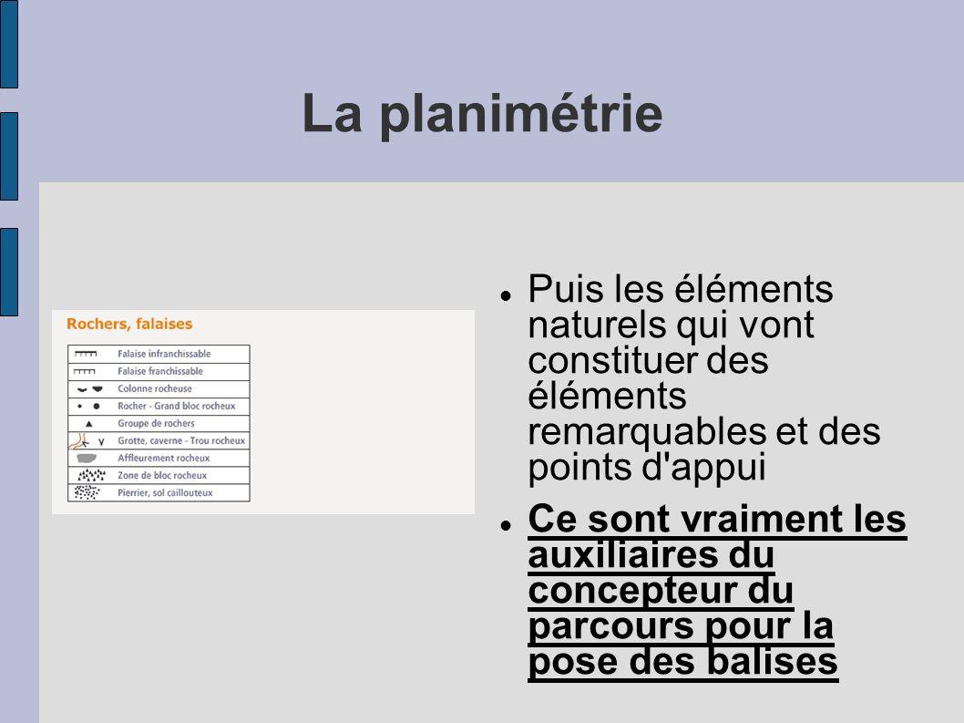 La planimétrie Puis les éléments naturels qui vont constituer des éléments remarquables et des points d appui.