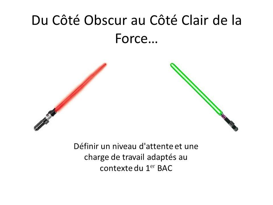 Du Côté Obscur au Côté Clair de la Force…