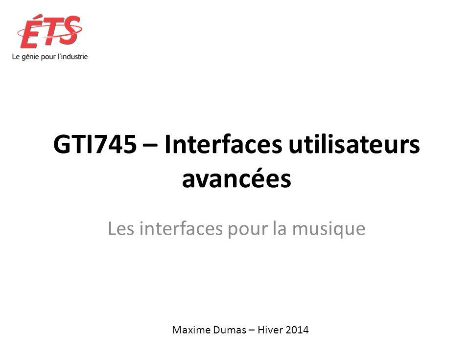GTI745 – Interfaces utilisateurs avancées