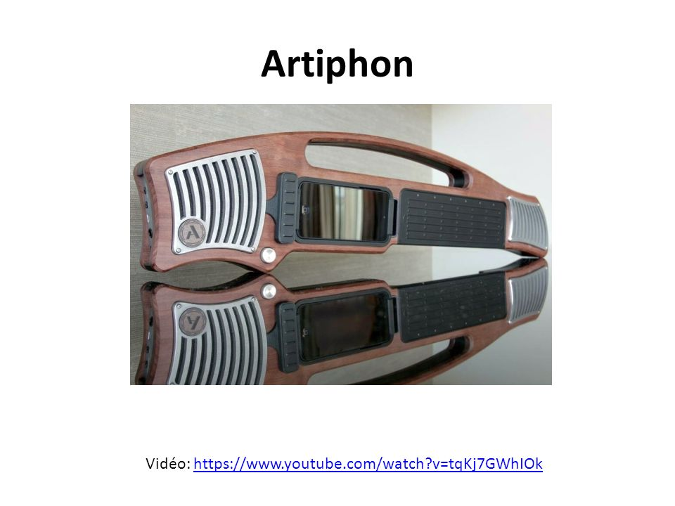 Artiphon Vidéo: https://www.youtube.com/watch v=tqKj7GWhIOk