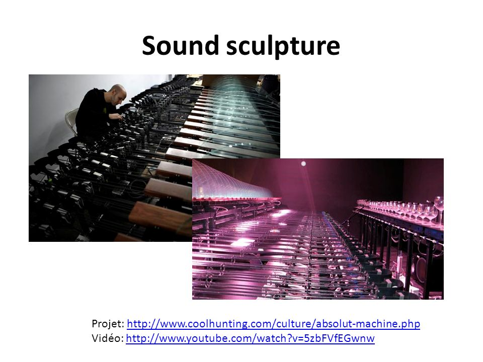 Sound sculpture