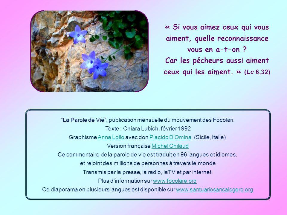 La Parole de Vie , publication mensuelle du mouvement des Focolari.