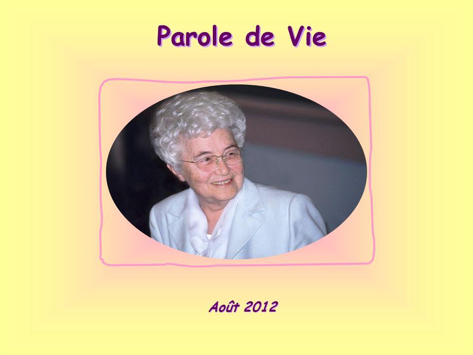 Parole de Vie Août 2012