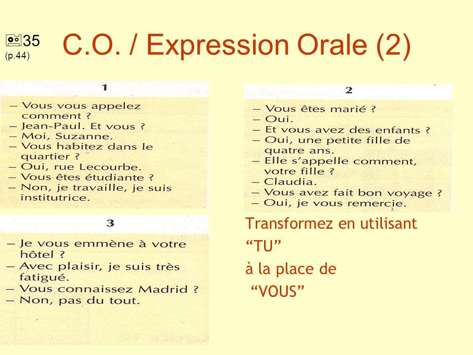 C.O. / Expression Orale (2)