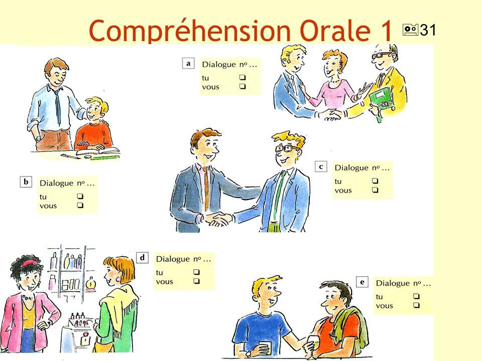 Compréhension Orale 1 31