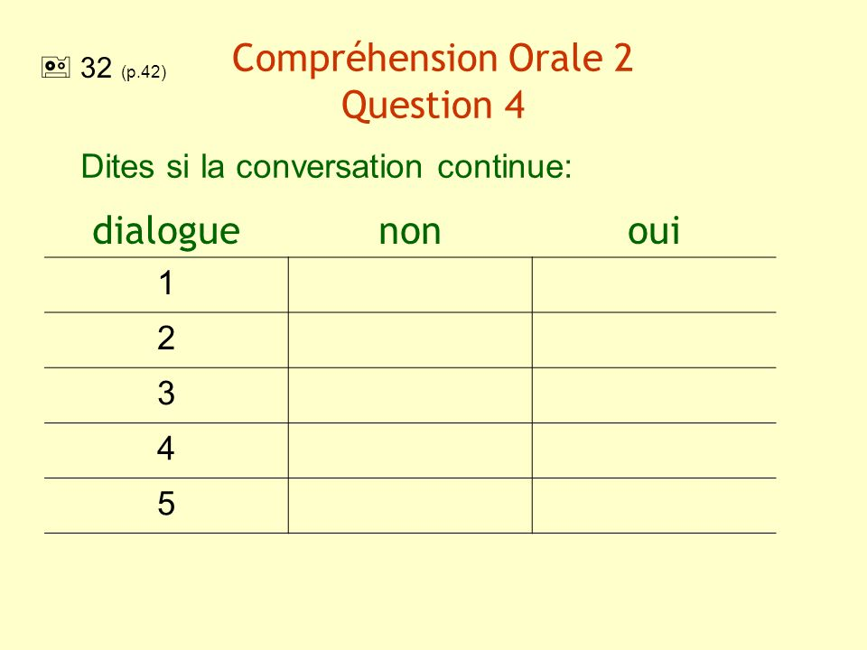 Compréhension Orale 2 Question 4