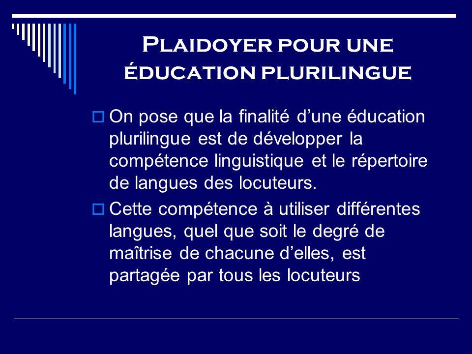 Plaidoyer pour une éducation plurilingue