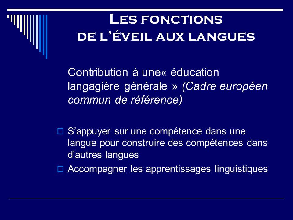 Les fonctions de l'éveil aux langues