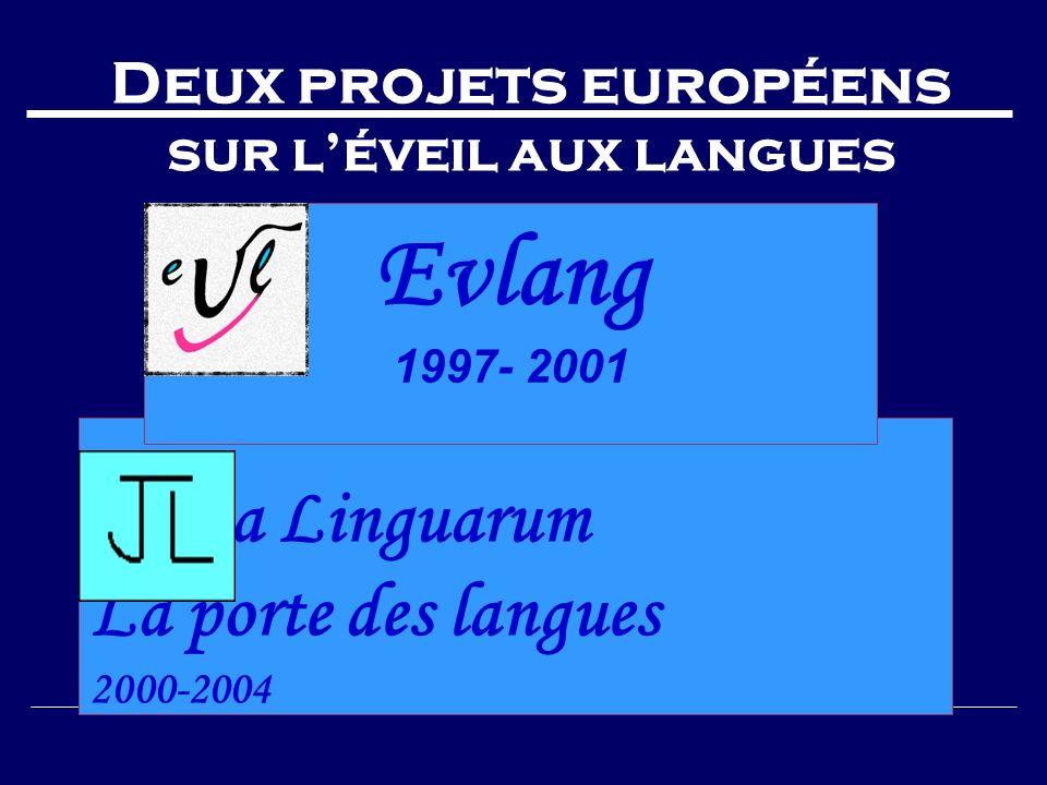 Deux projets européens sur l'éveil aux langues