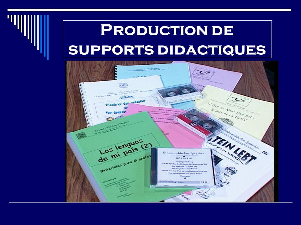 Production de supports didactiques