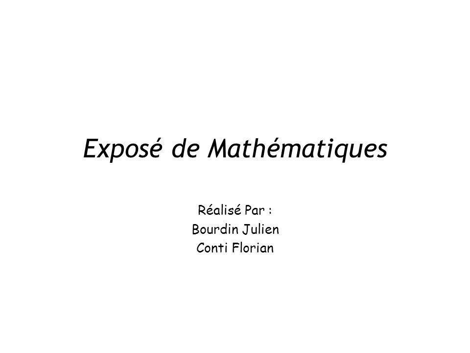Exposé de Mathématiques