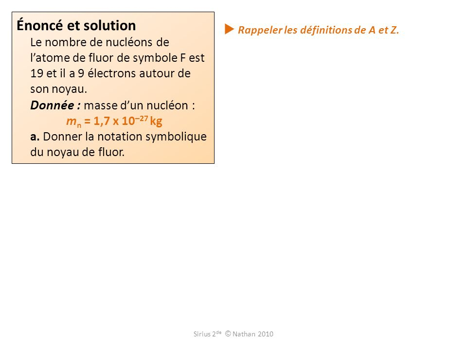  Rappeler les définitions de A et Z.