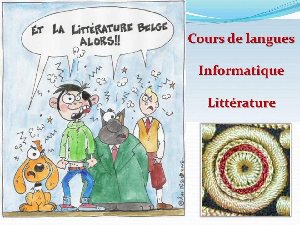 Cours de langues Informatique Littérature