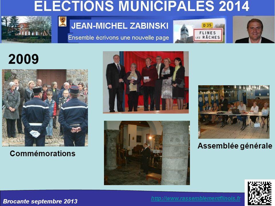 2009 Assemblée générale Commémorations