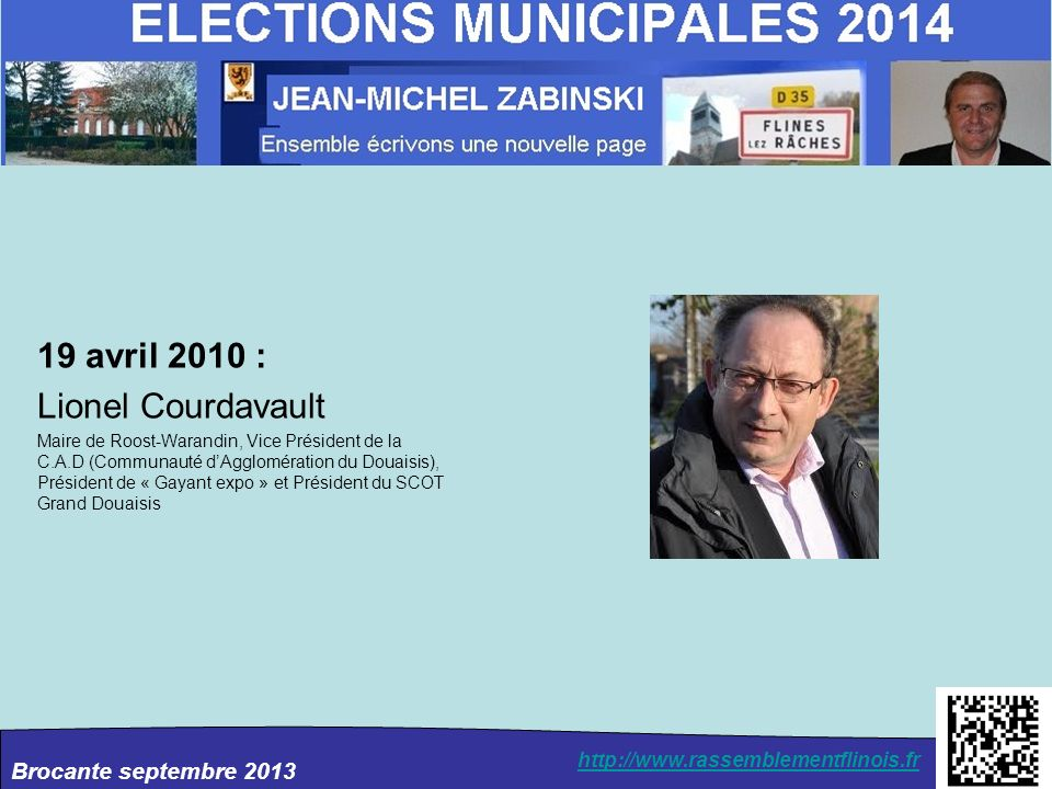 19 avril 2010 : Lionel Courdavault