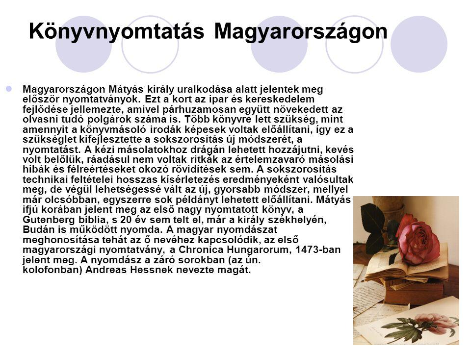 Könyvnyomtatás Magyarországon