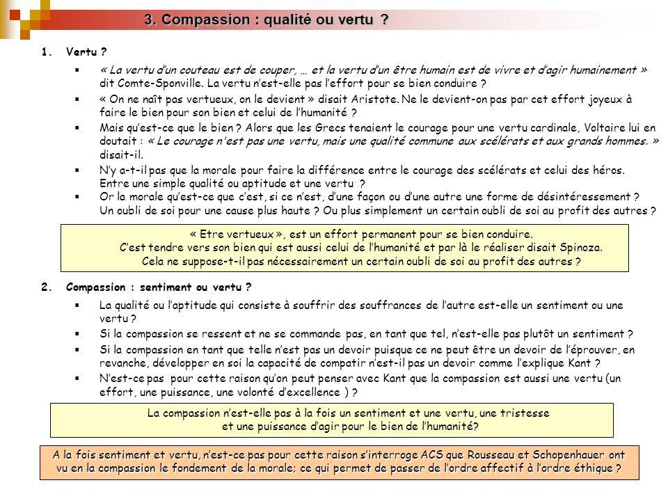 3. Compassion : qualité ou vertu