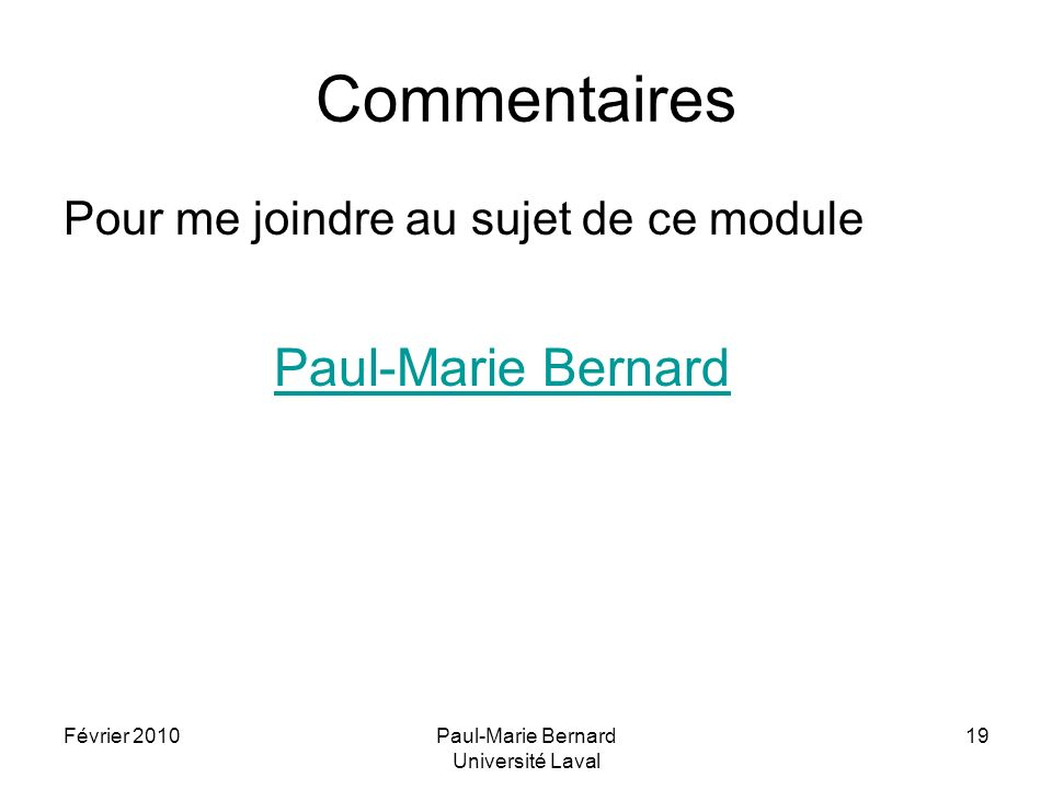 Paul-Marie Bernard Université Laval